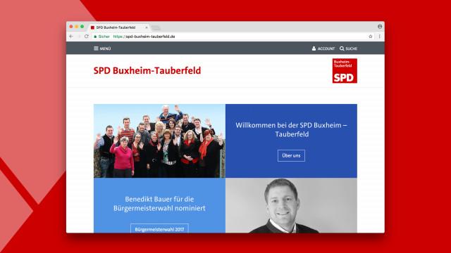 Screenshot von Kampagnen auf der Website der BayernSPD